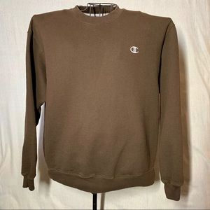 Retro Champion Crewneck Sweater Brown Size Large